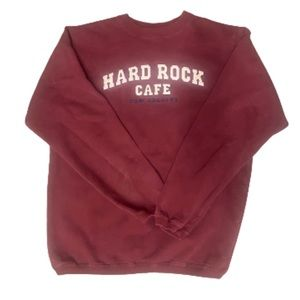 Vintage maroon/red authentic Hard Rock sweater